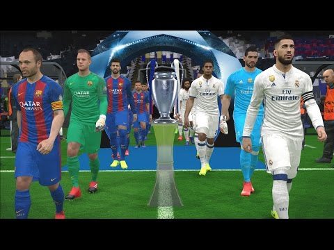 PES 2017 | UEFA Champions League Final | Real Madrid vs FC Barcelona | Gameplay PC