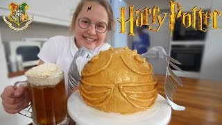 Golden Snitch Cake & Butterbeer