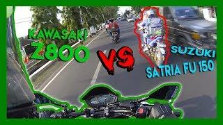 Video MOGE vs MOCIL Tengil | Kawasaki z800 vs Suzuki Satria Fu 150 download MP3, 3GP, MP4, WEBM, AVI, FLV Agustus 2019