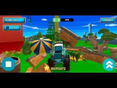 Cartoon Car Crash Derby Destruction World Android Gameplay #5