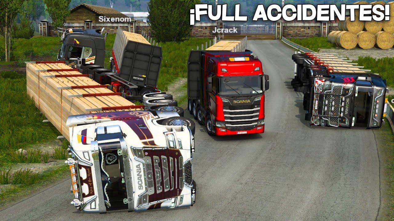 ¡VUELVEN LOS LOCOS A LA CARRETERA!   MUCHOS ACCIDENTES   Euro Truck Simulator 2
