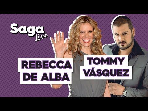 SagaLive Rebecca de Alba y Tommy Vásquez con Adela Micha.