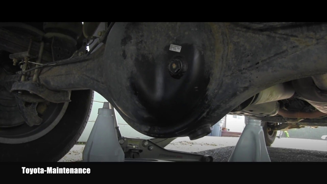 Toyota Tundra Rear Differential Oil Change - YouTube