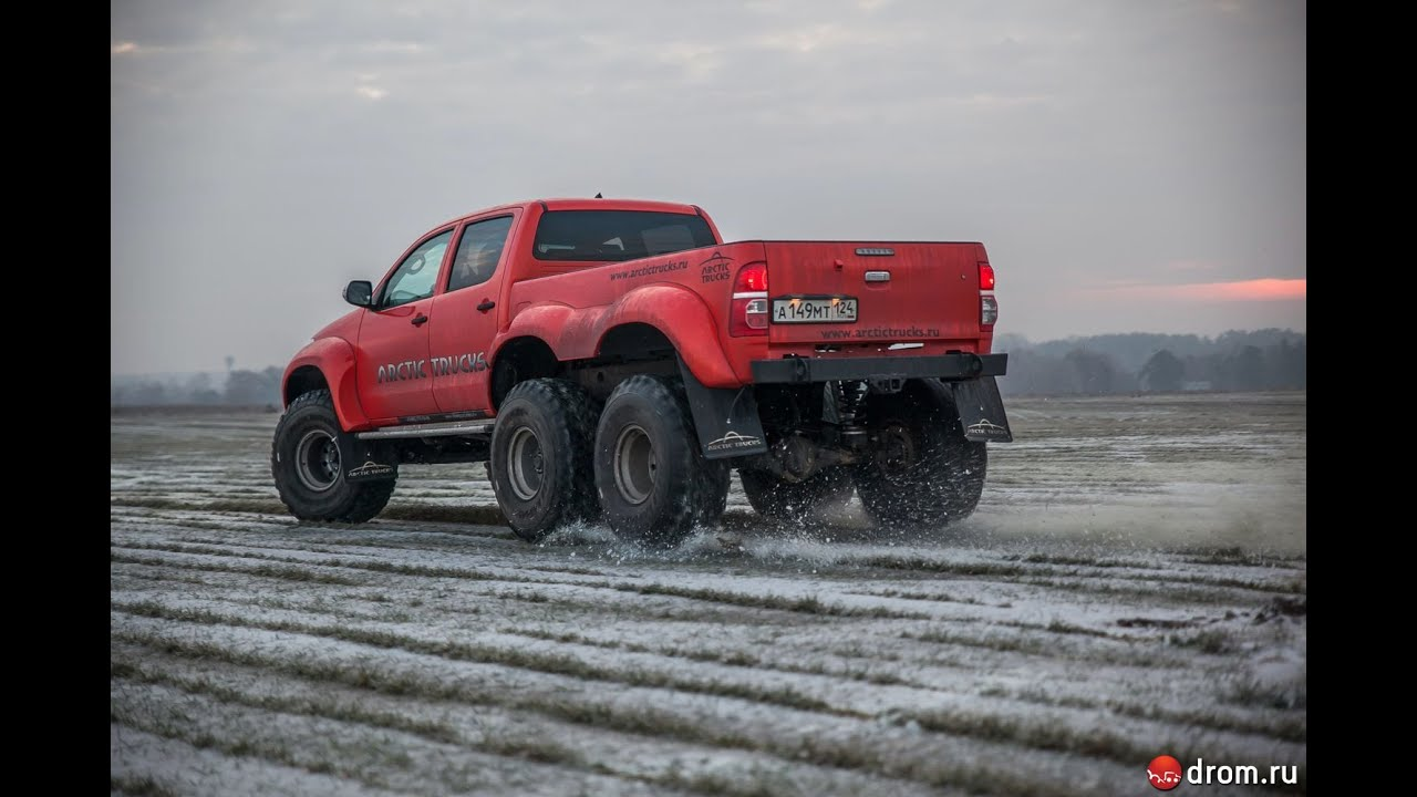 Toyota Hilux Arctic Trucks At38 6x6 English Subs Youtube