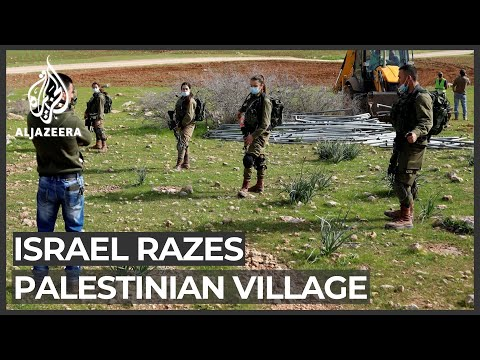 Israel razes Palestinian village for second time in occupied West Bank