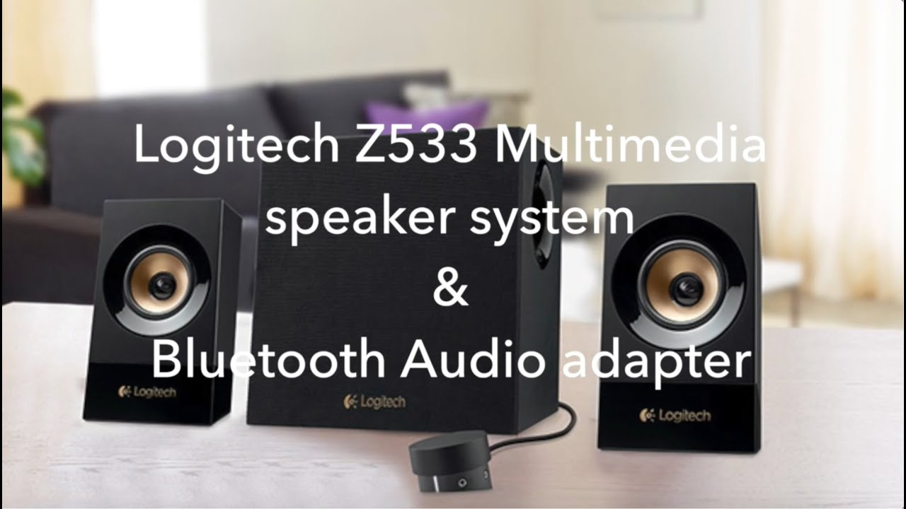 logitech z533 speakers bluetooth audio adapter fast. Black Bedroom Furniture Sets. Home Design Ideas