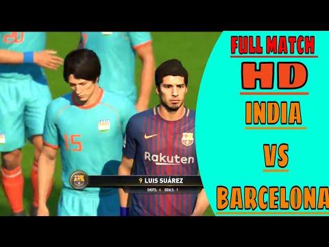 India vs  FC Barcelona !! FIFA 18 !! Chhetri vs Messi