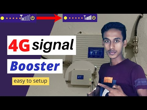 How To Install Signal Booster At Home - Signal Booster Reviews - 4g Signal Booster For Home India