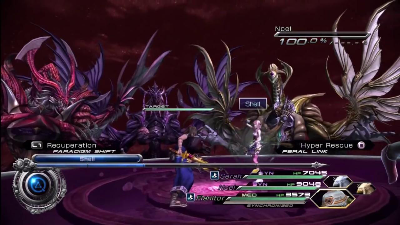 Final Fantasy XIII-2 - Final Boss - 5 Stars - Jet Bahamut, Amber Bahamut,  Garnet Bahamut