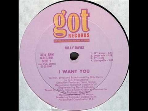 Billy Davis I want you