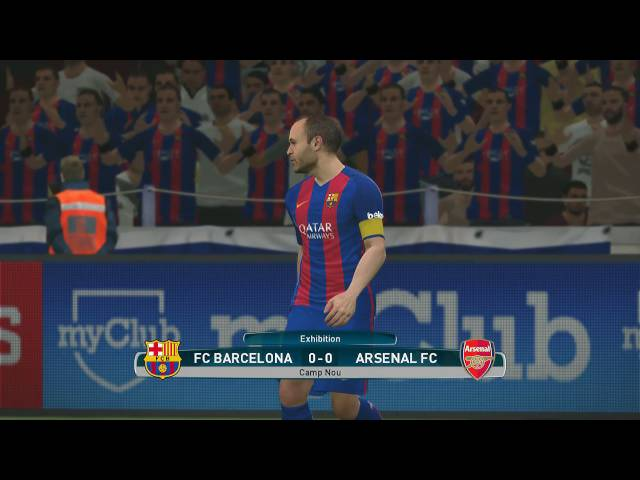 PES 2017 Demo Gameplay Barcelona-Arsenal
