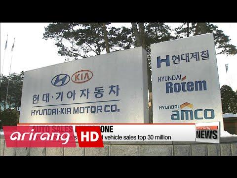 Hyundai and Kia's combined vehicle sales top 30 million