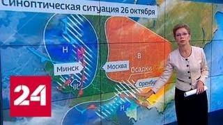 """""""Погода 24"""": европейскую часть России начинает заметать снегом - Россия 24"""