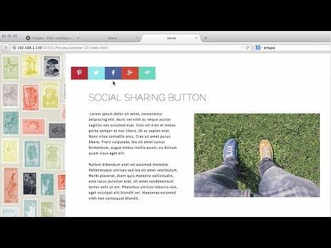 MuseThemes.com - Social Sharing Button Widget | Adobe Muse CC 2014 Tutorial
