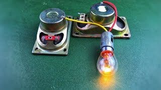 Free Energy Device In Speaker Magnet With LED Light Using DC Motor 100% Work 2019