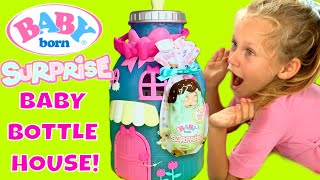 ⭐️NEW! Baby Born Surprise Bottle Doll House! 🍼How Many Babies Can Fit Inside? 🤷🏻♀️