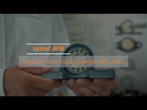 igubal® JEM - Replace metal insert bearings with plastic