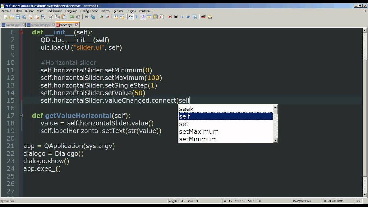 14 - Python PyQt (Interfaz gráfica) - Slider Horizontal y Vertical ...