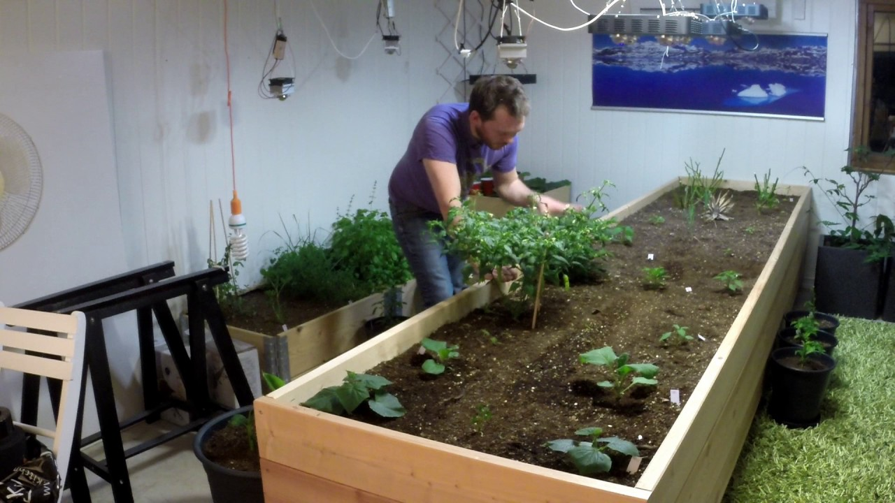 plans for my indoor raised bed this winter youtube