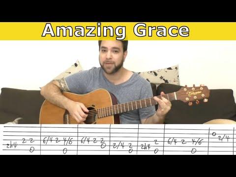 Fingerstyle Tutorial: Amazing Grace - Guitar Lesson w/ TAB