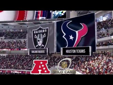 Madden 17: Oakland Raiders Vs Houston Texans (2017 AFC Wild Card Match-up)