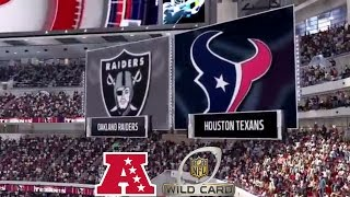 Madden 17: Oakland Raiders Vs Houston Texans (2017 AFC Wild Card Match-up)