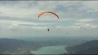 David Humphrey's Paragliding Take-off and Flight Above the Tegernsee