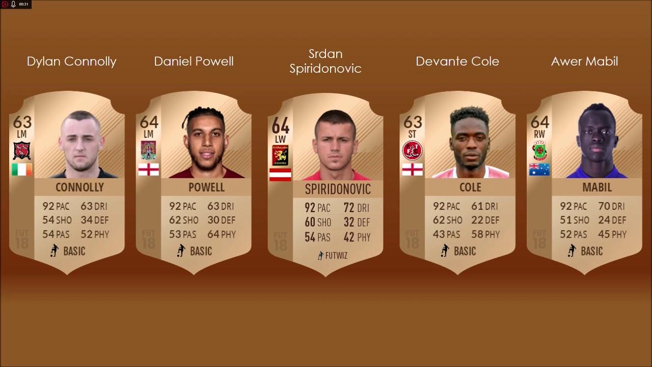 Best english bronze players fifa 2018 fifa 18 regenerator