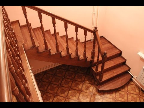 Как сделать г образную лестницу своими руками