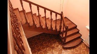 видео Делаем лестницу своими руками