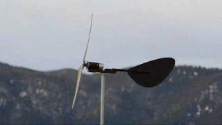 Direct Drive Two Blade Treadmill Motor Wind Turbine 4 Steel Banded Blades Reinforced Pvc Pop Rivet