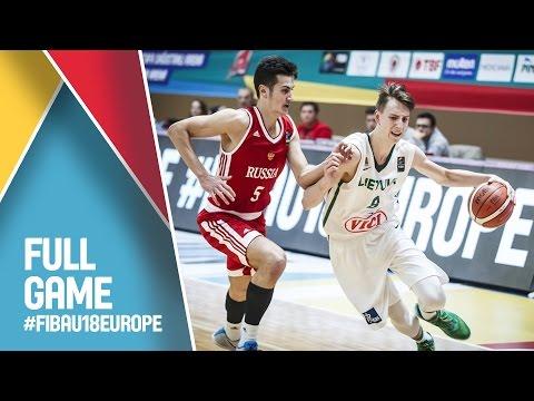 Lithuania v Russia - Live - Quarter Final - FIBA U18 European Championship 2016