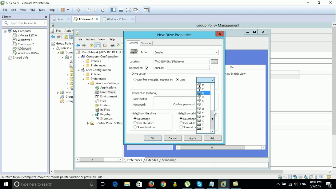 How to Map Network Drive By GPO on Server 2012 - YouTube Drive Map on