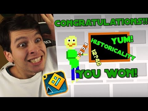 HE GANADO BALDI'S BASIC IN EDUCATION EN GEOMETRY DASH !! *Nuevos Niveles*