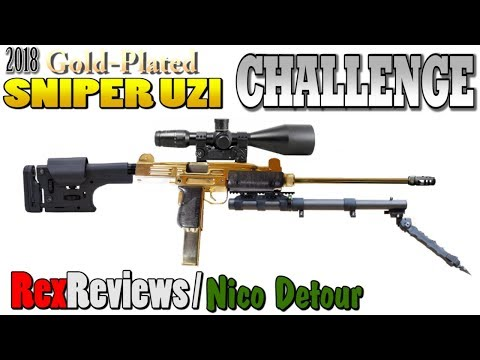 2018 Gold Plated Sniper Uzi Challenge! ~ Rex Reviews and Nico Detour