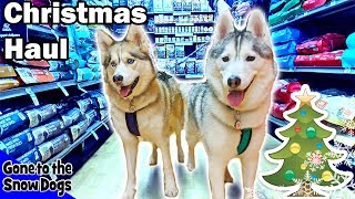 Dogs Go Shopping at Petco for Christmas | Petco Christmas Haul for Dogs