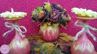 Осенний кленовый букет МАСТЕР КЛАСС Цветок роза из листьев. Осенняя композиция СВОИМИ РУКАМИ