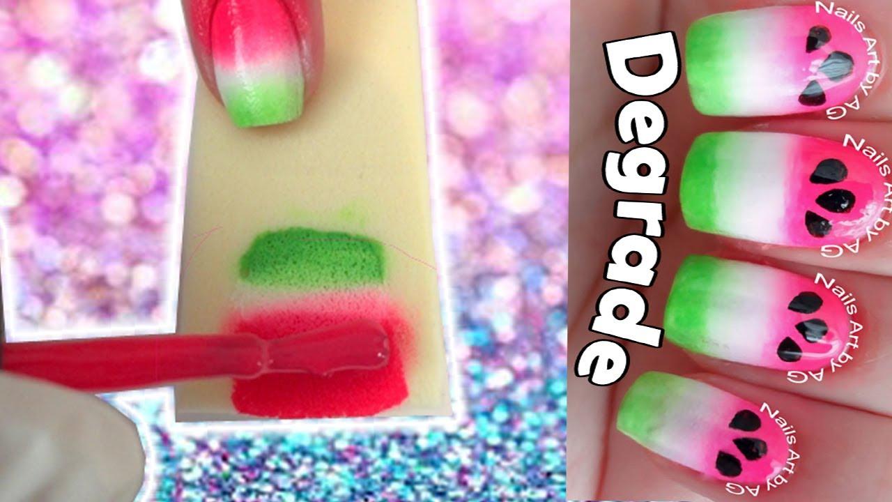 Cómo Hacer Efecto Degradado En Las Uñas Usando Esponjas