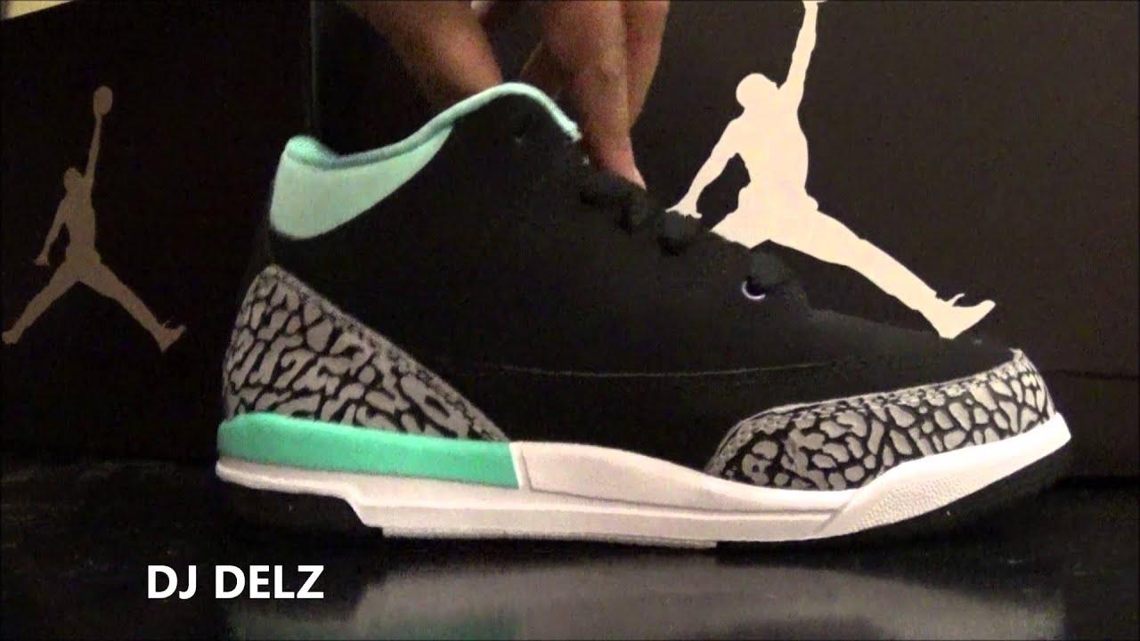 c6c4aba06c6 Air Jordan III 3 Tiffany PS GS Sneaker Review HD With Dj Delz - YouTube