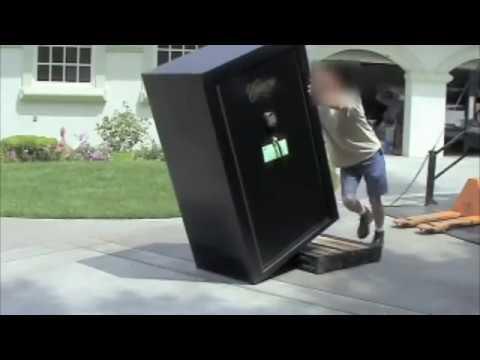 Moving A Huge 800 Lb Gun Safe Off Pallet In So Cal Youtube