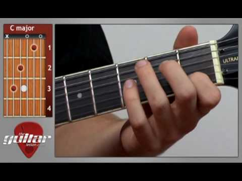 C Major Guitar Chord - YouTube