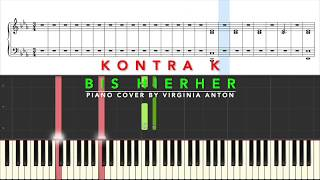 Kontra K Bis hierher Piano Tutorial Instrumental Cover
