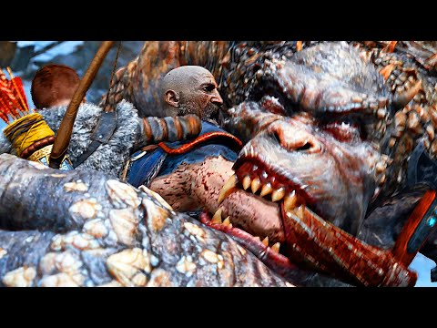 GOD OF WAR 4 All Boss Gods Battles Fight Gameplay PS4 PRO (2018)