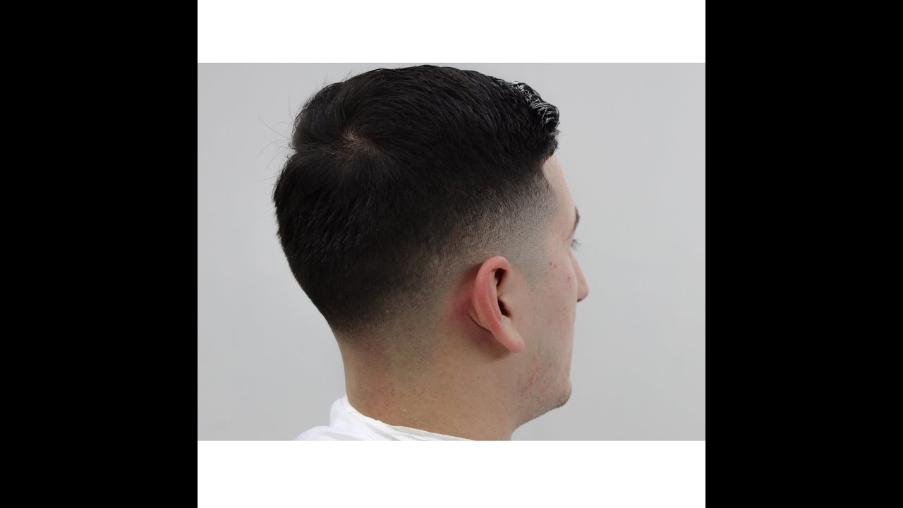 combover fade with hard part