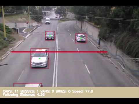 Traffic Video Analytics - vehicle type, speed and distance recognition