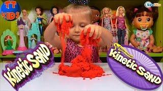 ✔ Ярослава открывает новый набор Кинетический песок. Развивающее видео для детей. Kinetic sand ✔