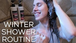 My Winter Shower Routine! (With Holiday Prod...