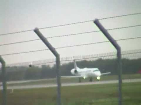 Start einer Embraer 145 von Leipzig