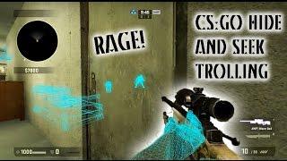 """CSGO Hide and Seek Trolling - """"Wallhack"""" Rage!"""