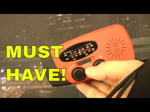 Emergency Radio and Flashlight, Handcranked and Solar Power!  Review!